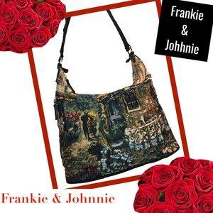 a83f31184fc4b FRANKIE   JOHNNIE Italian Scene Shoulder Bag
